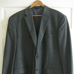 Tommy Hilfiger Mens Classic Grey 2 Button Jacket
